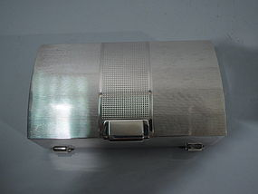 Unusual English Sterling Silver Desk Box 1951