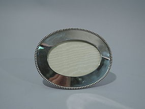American Sterling Silver Picture Frame with Beading