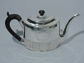 Antique English Sterling Silver Teapot - Neoclassical 1800