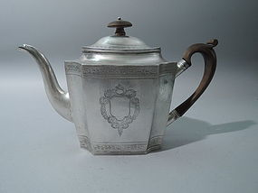 Antique Georgian English Sterling Silver Teapot 1798