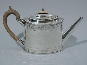 Beautiful Bateman Teapot - Georgian Sterling Silver 1796