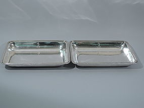 Antique English Sterling Silver Open Serving Dishes 1802