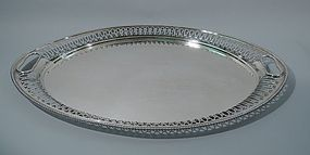 Sumptuous Edwardian English Sterling Silver Tea Tray 1908