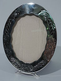 Pretty Art Nouveau Sterling Silver Picture Frame