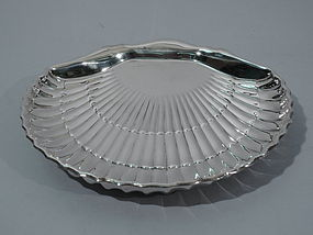 Large American Sterling Silver Scallop Shell