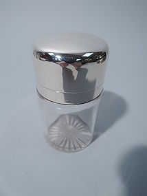 Gorham Sterling Silver and Glass Vanity Jar 1893
