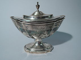 Interesting Neoclassical South American Silver Sugar C 1840