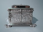 Fabulous Dutch Silver Tea Caddy - Sumptuous Neoclassical Armoire