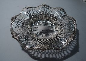 Antique Sterling Silver Pierced Bowl by Redlich