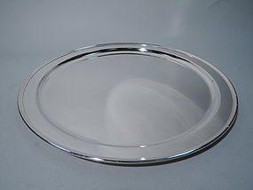 Very Large Tiffany Sterling Silver Circular Serving Tray