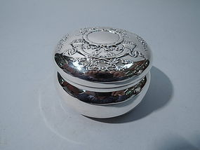 Regal Sterling Silver Powder Jar by Howard of New York 1904
