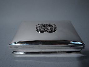 Gorham Art Nouveau Sterling Silver Desk Box