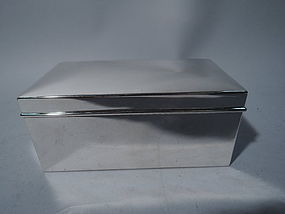 American Modern Sterling Silver Casket Box by Tiffany