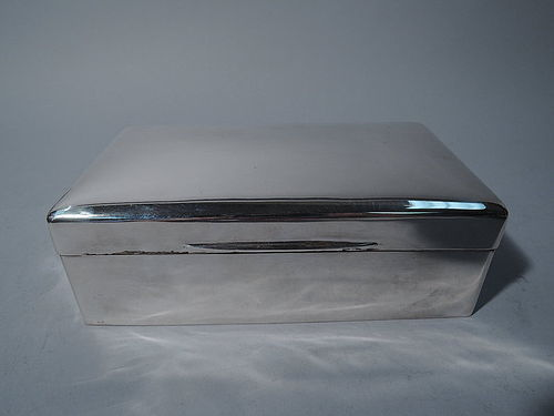 Smart Sterling Silver Desk Box - Made in England, Retailed in India