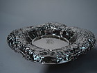 Gorham Sterling Silver Bowl with Big Beautiful Blossoms 1902