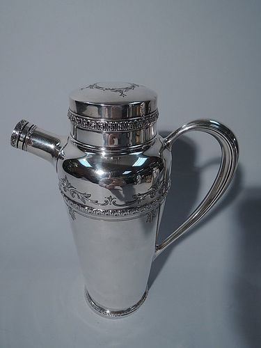 Fancy American Sterling Silver Cocktail Shaker C 1910