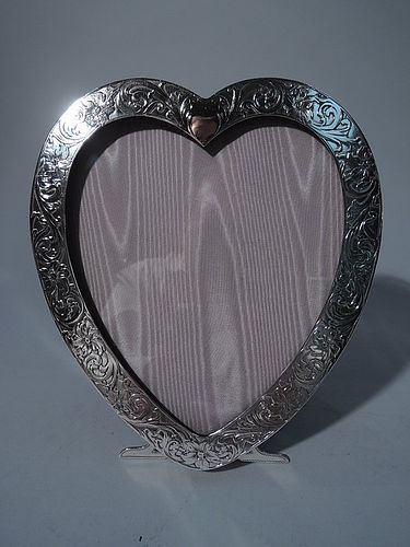 Great Valentine's Day Gift - Antique Sterling Silver Heart Frame