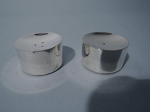 Danish Midcentury Sterling Silver Salt & Pepper Shakers by Michelsen