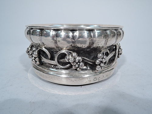 Early Georg Jensen Silver Wine Bottle Coaster 1920