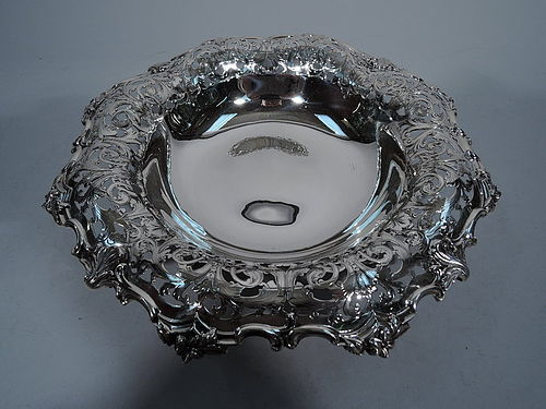 Gilded Age Tiffany � Antique Sterling Silver Centerpiece Bowl C 1902