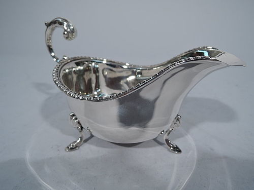 Birks Georgian Style Sterling Silver Sauceboat 1936