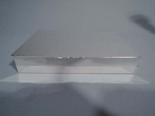 American Modern Handmade Sterling Silver Desk Box