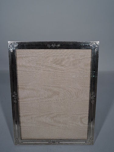 Large Antique Tiffany Sterling Silver Picture Frame
