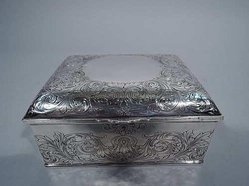 Antique Gorham Sterling Silver Jewelry Box