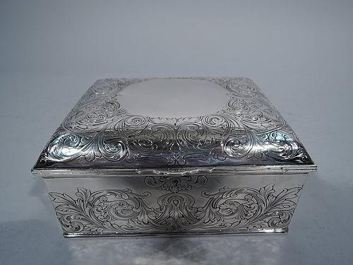 Antique Gorham Sterling Silver Jewelry Box