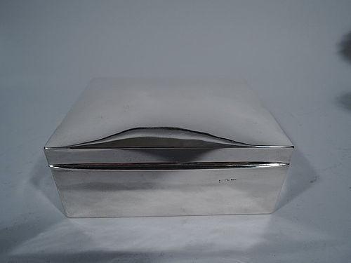 Edwardian English Sterling Silver Desk Box