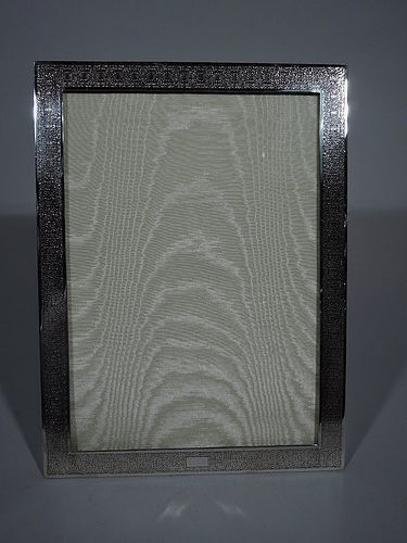 Tiffany Sterling Silver Pointille Picture Frame C 1910