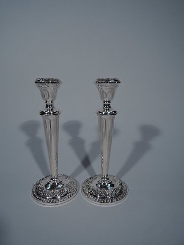 Pair of International Sterling Silver Candlesticks