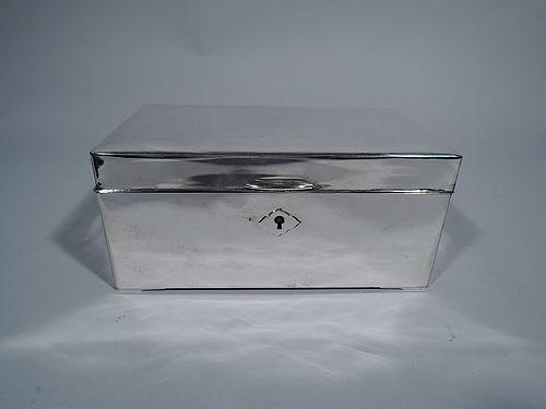 American Modern Sterling Silver Jewelry Casket Box
