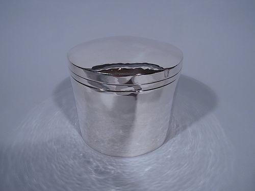 Large Kalo Craftsman Hand Hammered Sterling Silver Box