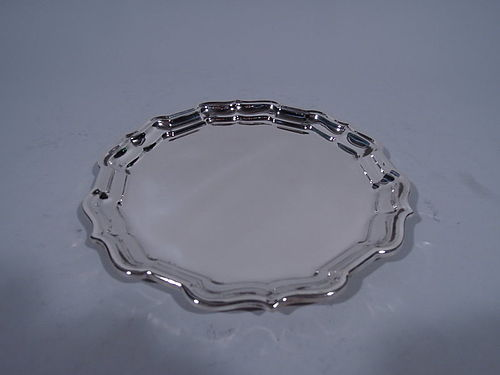Chippendale Sterling Silver Round Serving Tray by Frank Smith