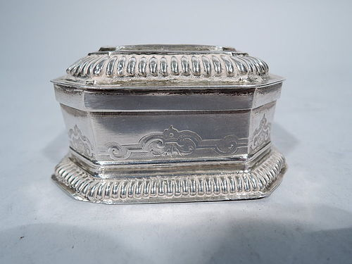 Antique German Silver Spice Box by Eyssler in Nuremberg 18th C
