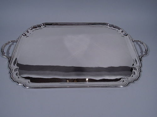 Antique American Sterling Silver Large and Heavy Tea Tray