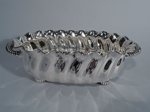 Smart and Distinctive American Sterling Silver Fluted Bowl