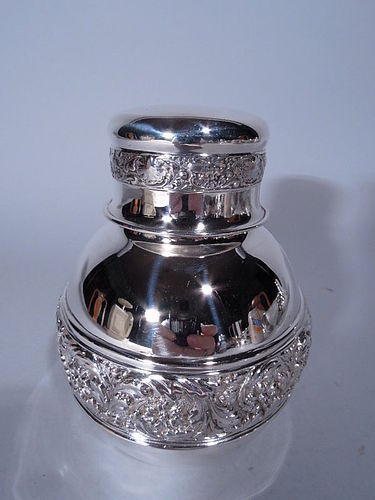 Antique Tiffany Sterling Silver Tea Caddy