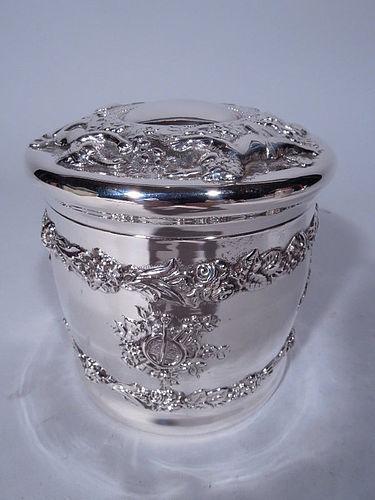 Tiffany Rococo Sterling Silver Trinket Box
