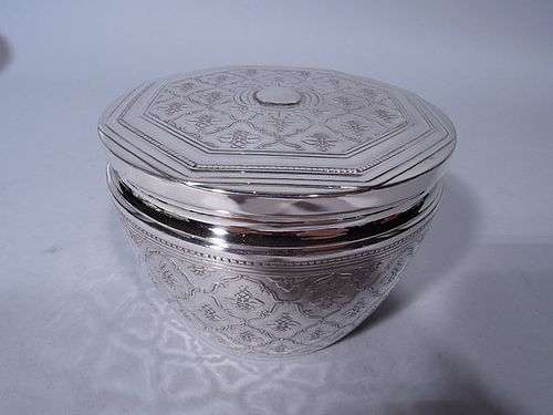 Antique Tiffany Sterling Silver Vanity Jar C 1925