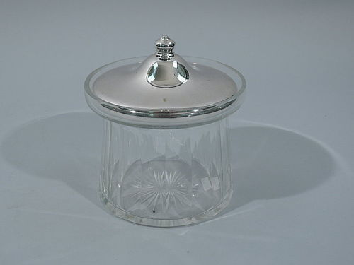Antique American Sterling Silver Jam Jar C 1920