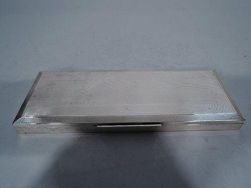 Snazzy Italian Silver Desk Box
