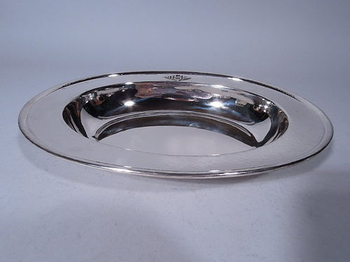 American Craftsman Hand Hammered Sterling Silver Bread Tray