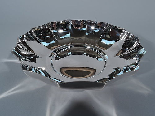 Tiffany Midcentury Modern Sterling Silver Faceted Bowl