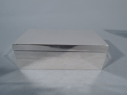Smart English Sterling Silver Desk Box 1935