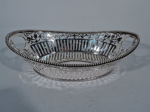 Antique Sterling Silver Bread Basket by Howard of New York 1889