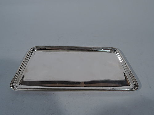 Tiffany Rectangular and Heavy Sterling Silver Tray