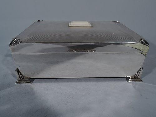 Snazzy Modern Sterling Silver Casket Box