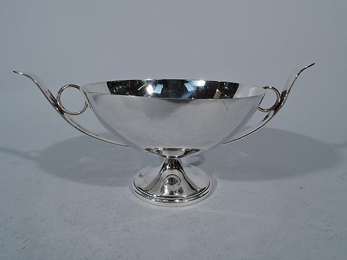 American Classical Silver and Gold Greek Kylix Style Footed Bowl